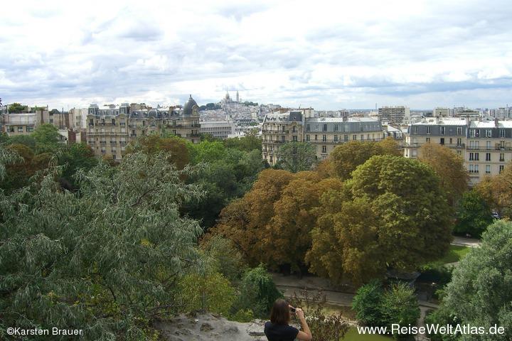 Blick vom Parc des Buttes-Chaumont