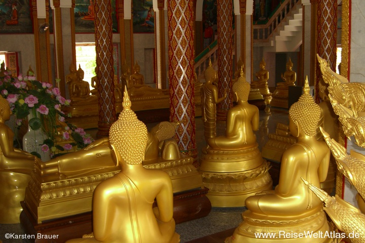 Goldene Plastebuddhas