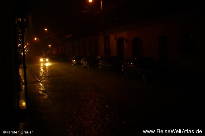 Nächtlicher Regen